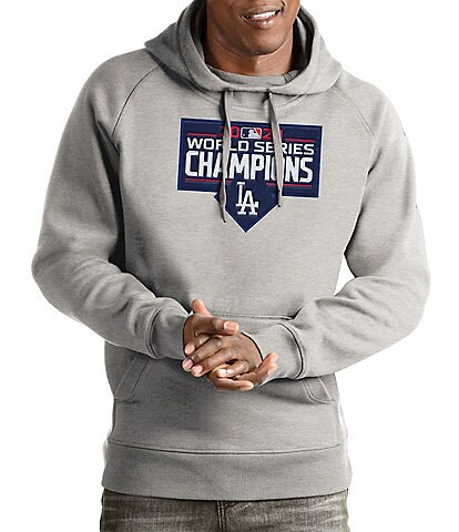 Antigua Los Angeles Dodgers 2020 MLB World Series Champions Victory Pullover Long-Sleeve Hoodie
