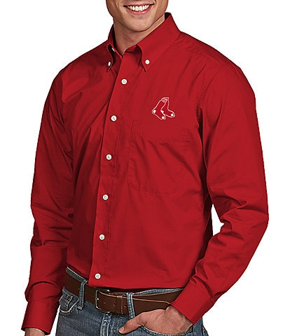 Antigua MLB Dynasty Long-Sleeve Woven Shirt