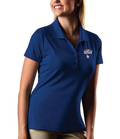 Antigua MLB Los Angeles Dodgers Women's Pique Xtra-Lite Short-Sleeve Polo Shirt