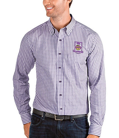 Antigua NBA Los Angeles Lakers 2020 Champions Structure Long-Sleeve Woven Shirt