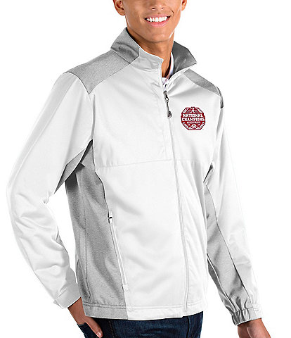 Antigua NCAA University Of Alabama 2020 National Champions Revolve Full-Zip Waterproof Jacket