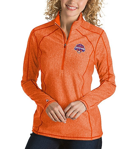 Antigua Women's NCAA National Champions Clemson University Tempo Half-Zip Pullover