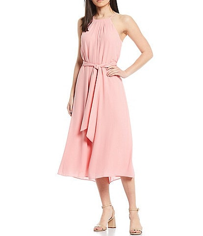 Antonio Melani Adeline Sleeveless Halter Neck Midi Dress