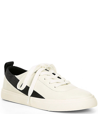 Antonio Melani Adriella Leather Snake Print Detail Sneakers