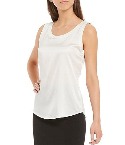 Antonio Melani Alastair Silk Scoop Neck Tank