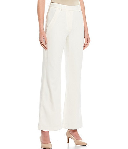 Antonio Melani Artemis Wide Leg Plain-Weave Pants