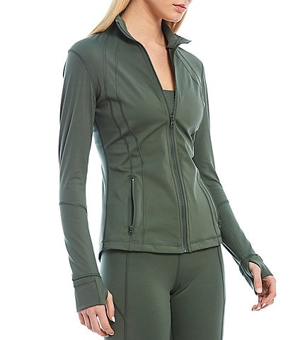 Antonio Melani Awaken High-Tech Interlock Knit Moisture Wicking Zip Front Jacket