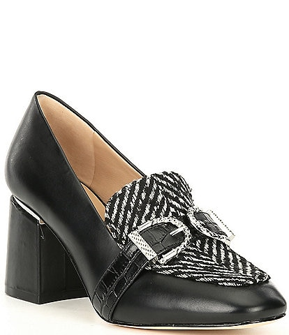 Antonio Melani Azlie Leather Moccasin Pumps
