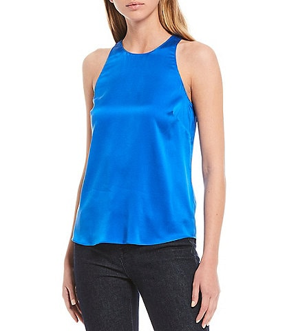 Antonio Melani Bekah Sandwashed Stretch Silk-Blend Sleeveless Tank