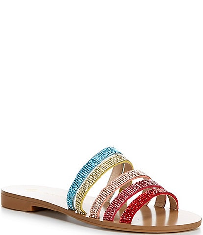 Antonio Melani Byrd Rainbow Embellished Sandals