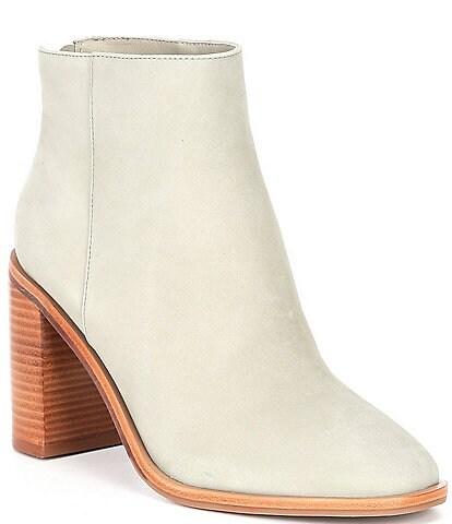 Antonio Melani Cammden Casual Nubuck Leather Block Heel Booties