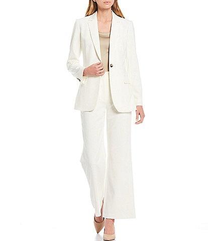 Antonio Melani Cat Plain-Weave Single Breasted Jacket & Artemis Wide Leg Plain-Weave Pants