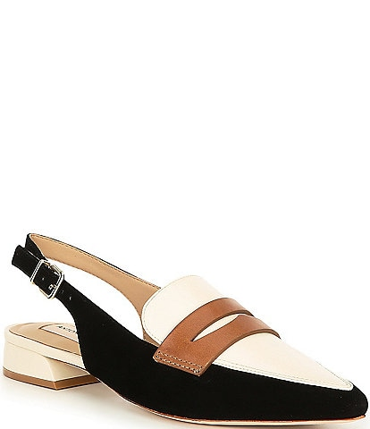 Antonio Melani Charpay Suede and Leather Slingbacks