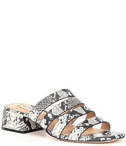 Antonio Melani Cosgrove Snake Print Leather Banded Dress Sandals