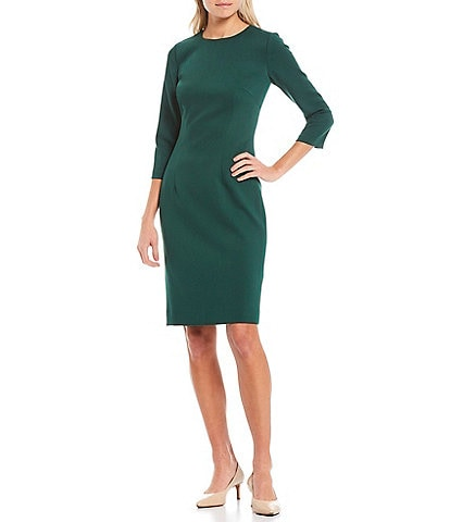 Antonio Melani Dell Round Neck 3/4 Sleeve Sheath Dress