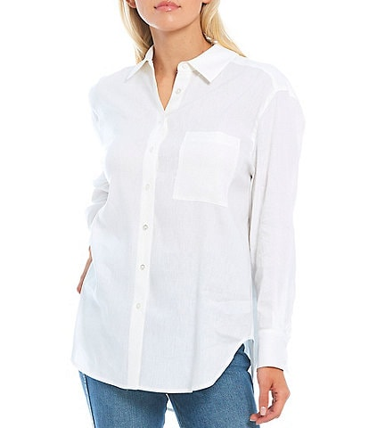 Antonio Melani Fabianna Linen Button Down Top