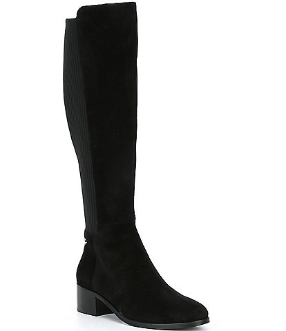Antonio Melani Faylinn Suede Stretch Tall Block Heel Boots