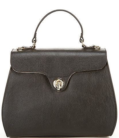 Antonio Melani Flap Lock Satchel Bag