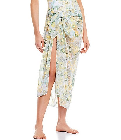 Antonio Melani Full Bloom Classic Pareo Sarong Swimsuit Cover Up
