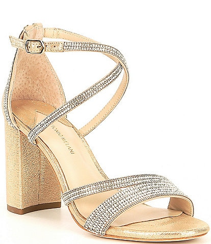 Antonio Melani Garlini Rhinestone Embellished Block Heel Dress Sandals