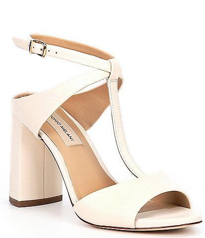 Antonio Melani Gracennn Leather T-Strap Dress Sandals