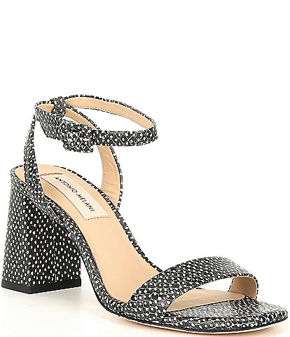 Antonio Melani Gwyn Polka Dot Print Ankle Strap Dress Sandals