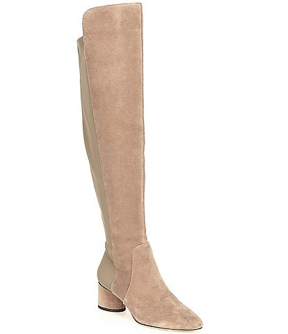 Antonio Melani Haddison Suede Over-the-Knee Block Heel Boots