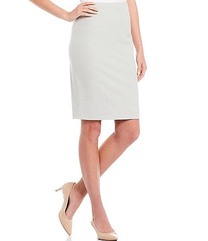 Antonio Melani Hanson Slubbed Pencil Skirt