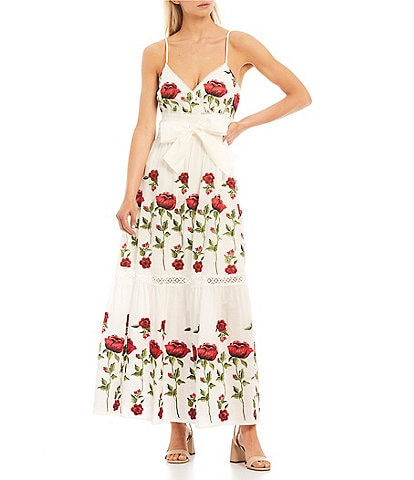 Antonio Melani Henry Embroidered Floral Maxi Dress