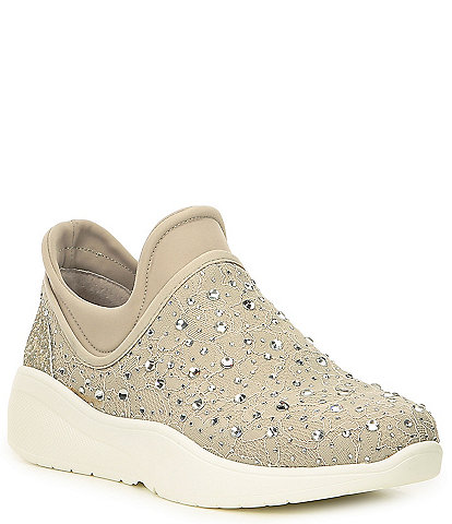 Antonio Melani Jaxtyn Hotfix Lace and Jewel Embellished Sneakers