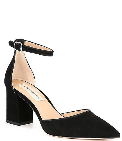 Antonio Melani Jazper Suede Ankle Strap Pointed Toe Pumps