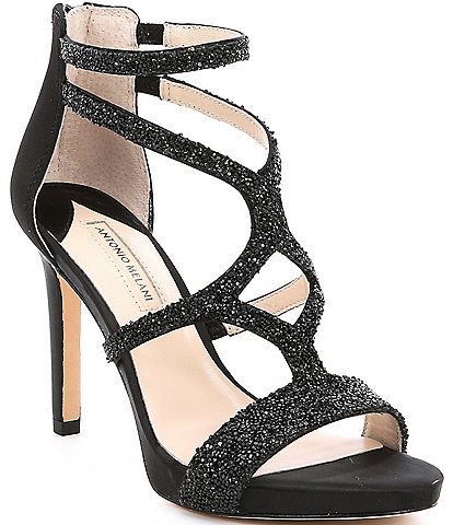 2285b3b7a4b1 Antonio Melani Karalina Crystal Satin Criss Cross Platform Dress Sandals