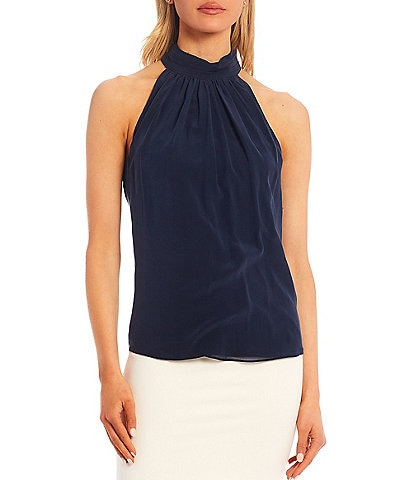 Antonio Melani Kasia Sleeveless Halter Silk Blouse