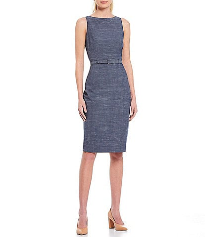 Antonio Melani Keke Sleeveless Sheath Dress with Belt