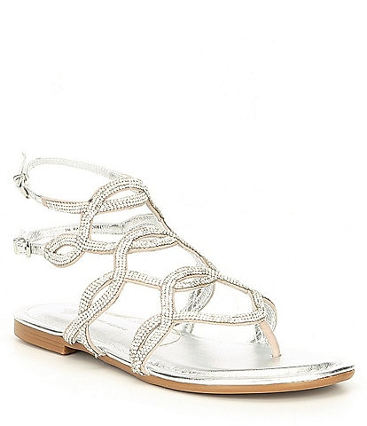 Antonio Melani Lacila Ornament Embellished Flat Sandals