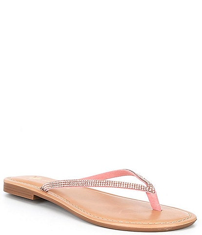 Antonio Melani Laiken Embellished Toe Thong Flat Sandals