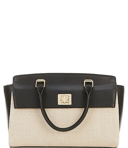 Antonio Melani Large Herringbone Satchel bag