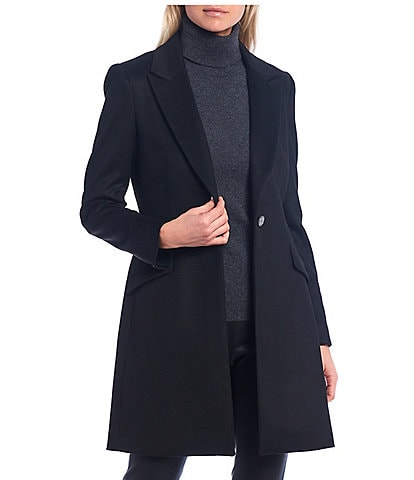 Antonio Melani Liam Notch Lapel One-Button Single Breasted Coat