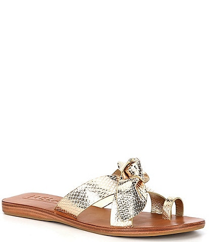 Antonio Melani Loyren Knotted Metallic Thong Flat Sandals