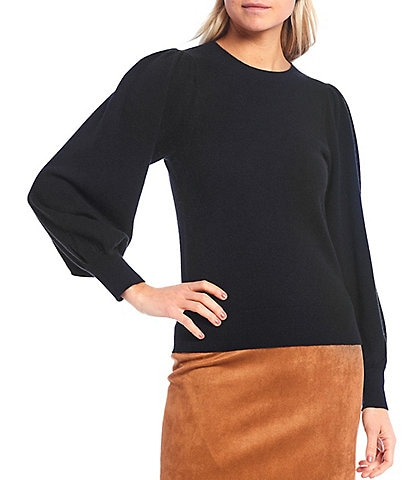 Antonio Melani Luxury Collection Barbara Cashmere Long Puff Sleeve Sweater
