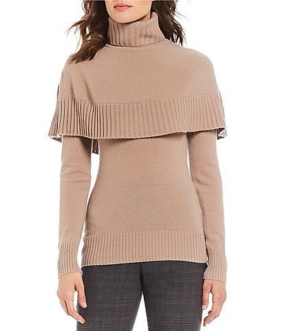 Antonio Melani Luxury Collection Cashmere Blair Turtleneck Popover Sweater