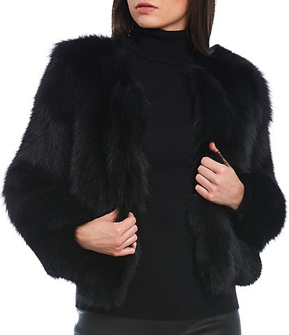 Antonio Melani Luxury Collection Fara Genuine Fox Fur Short Jacket