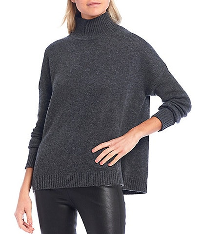 Antonio Melani Luxury Collection Lera Cashmere Mock Neck Oversized Sweater