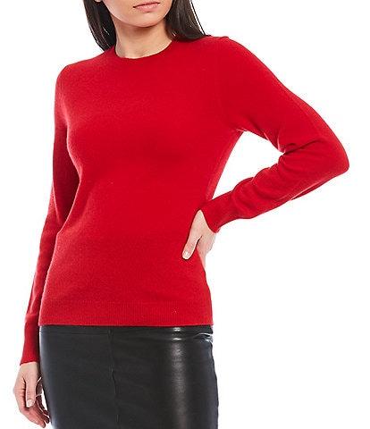 Antonio Melani Luxury Collection Lia Cashmere Crew Neck Long Sleeve Sweater