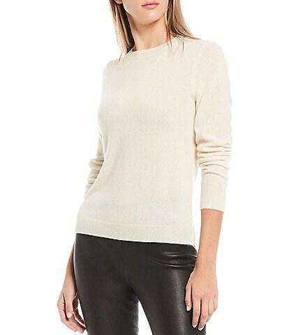 Antonio Melani Luxury Collection Cameron Cashmere Crew Neck Long Sleeve Sweater