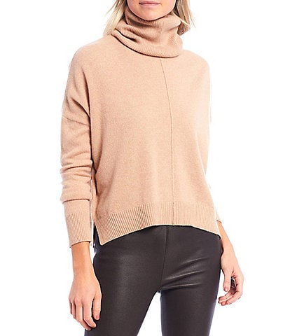 Antonio Melani Luxury Collection Meg Cashmere Dolman Sleeve Slouchy Sweater with Removable Cowl Detail