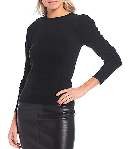 Antonio Melani Luxury Collection Rohini Cashmere Puff Shoulder Long Sleeve Sweater