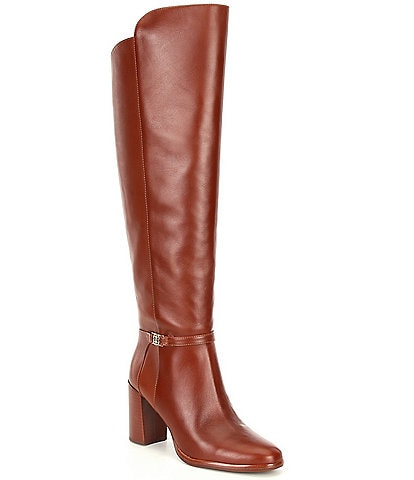 Antonio Melani Malindah Leather Block Heel Dress Boots