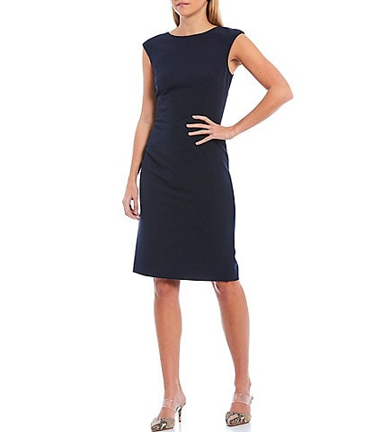 Antonio Melani Mario Stretch Crepe Cap Sleeve Sheath Dress