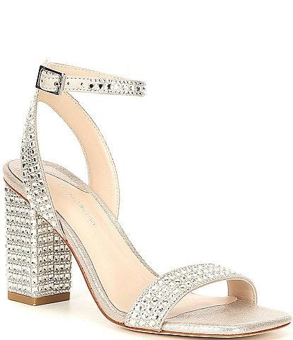 Antonio Melani Marryanna Rhinestone Embellished Ankle Strap Dress Sandals